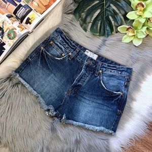 Free People | Uptown Harbor High Rise Denim Shorts